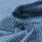 Tissu Velours Grosses côtes Bleu acier