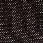 Tissu Viscose  Petites fleurs rouge et doré sur fond Noir - Par 10 cm