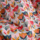 Tissu Coton imprimé LittleBird Tulipes Pop sur fond Bleu clair - Par 10 cm