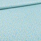 Tissu Coton imprimé Gouttes colorés sur fond Bleu - Par 10 cm