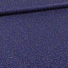 Tissu Coton imprimé Gouttes colorés sur fond Bleu marine - Par 10 cm