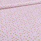 Tissu Coton imprimé Tulipes et pâquerettes sur fond Blanc - Par 10 cm