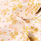 Tissu Jersey Polycoton Fleuris sur fond Beige