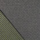 Tissu Sweat Matelassé Réversible Motifs Lime sur fond Gris foncé chiné - Par 10 cm