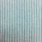 Tissu Vichy Rayures Turquoise - Par 10 cm