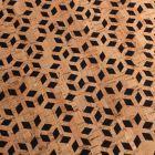 Tissu Liège monté sur jeans Losanges sur fond Noir - Par 10 cm