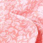 Tissu Coton MC Fabrics Garden sur fond Rose pâle