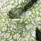 Tissu Coton MC Fabrics Garden sur fond Vert