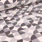Tissu Jacquard  Formes abstraites sur fond Blanc cassé