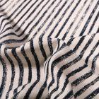 Tissu Coton Lin Dashwood Studio Midnight Garden Rayé sur fond Blanc cassé - Par 10 cm