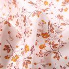 Tissu Coton imprimé Zao sur fond Blanc cassé - Par 10 cm