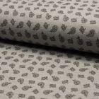 Tissu Jersey Piqué de coton spécial Polo Kashmir Multicouleurs sur fond Gris clair - Par 10 cm
