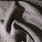 Tissu Sweat léger matelassé Talia Gris foncé chiné - Par 10 cm