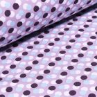 Tissu Softshell Pois sur fond Lilas
