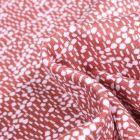 Tissu Jersey Coton Bio Pois et pointillés sur fond Terre de Sienne
