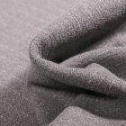 Tissu Crêpe texturé Rayures blanches sur fond Gris clair