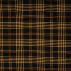Tissu Viscose lavé  Carreaux Jaune sur fond Noir - Par 10 cm