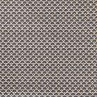 Tissu Coton Enduit Eventails Noirs - Par 10 cm