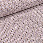 Tissu Coton imprimé  Arty Eventails sur fond Beige - Par 10 cm