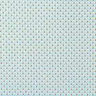 Tissu Coton Enduit Eventails Turquoise - Par 10 cm