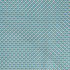 Tissu Coton Imprimé Arty Eventails Emeraude - Par 10 cm