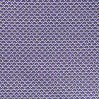 Tissu Coton Imprimé Arty Eventails Bleu Indigo - Par 10 cm