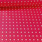 Tissu Coton imprimé Arty Etoiles et pois sur fond Rouge - Par 10 cm