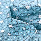 Tissu Coton imprimé Arty Etoiles et pois sur fond Bleu layette