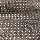 Tissu Coton enduit Etoiles et pois sur fond Noir - Par 10 cm