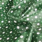 Tissu Coton enduit Etoiles et pois sur fond Vert foncé