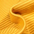 Tissu Bord côte  Rayé jaune foncé sur fond Jaune