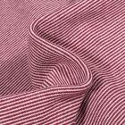Tissu Bord côte Fines rayures bordeaux sur fond Blanc