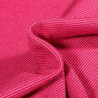 Tissu Bord côte Fines rayures bordeaux sur fond Rose