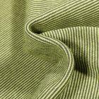 Tissu Bord côte Fines rayures vert foncé sur fond Vert anis