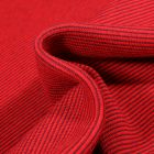 Tissu Bord côte Fines rayures grises sur fond Rouge