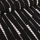 Tissu Crêpe georgette Motif géométrique Noir - Par 10 cm