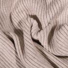 Tissu Bord côte Côtelé Beige - Par 10 cm