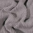 Tissu Bord côte Côtelé Gris - Par 10 cm
