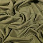 Tissu Jersey Bambou uni Vert kaki - Par 10 cm