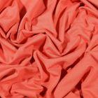 Tissu Jersey Bambou uni Corail - Par 10 cm