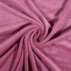 Tissu Jersey Velours tout doux Vieux rose x10cm