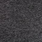 Tissu Maille chiné envers tout doux molleton Anthracite chiné - Par 10 cm