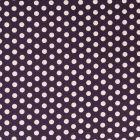 Tissu Coton imprimé Violet Pois 8 mm Blancs - Par 10 cm