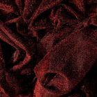 Tissu Voile de jersey pailleté Rouge - Par 10 cm