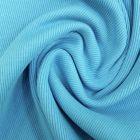 Tissu Bord côte uni Turquoise - Par 10 cm