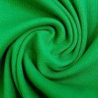 Tissu Bord côte uni  Vert gazon - Par 10 cm