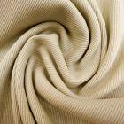 Tissu Bord côte uni Beige - Par 10 cm