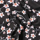 Tissu Coton imprimé Arty Fleur d'amandier sur fond Noir - Par 10 cm