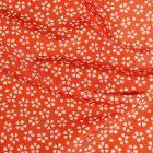 Tissu Toile extérieure imprimé Daisy sur fond Orange - Par 10 cm