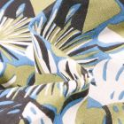 Tissu Coton imprimé Arty Gwada sur fond Bleu